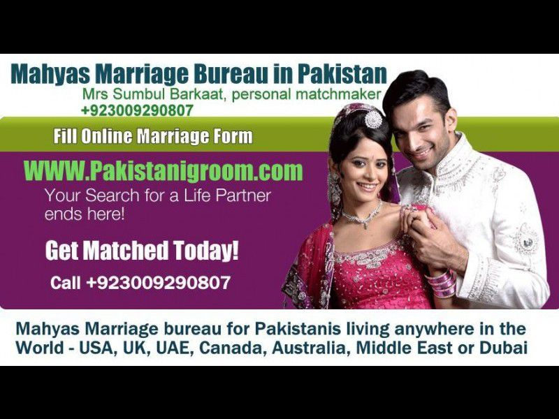 Best Marriage Bureau in Pakistan, Karachi, Lahore, Islamabad