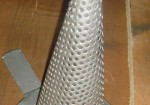 Temporary conical strainer