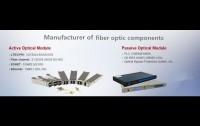 Manufacturer of fiber optic components SFP CWDM optical transceivers isolator coupler splitter